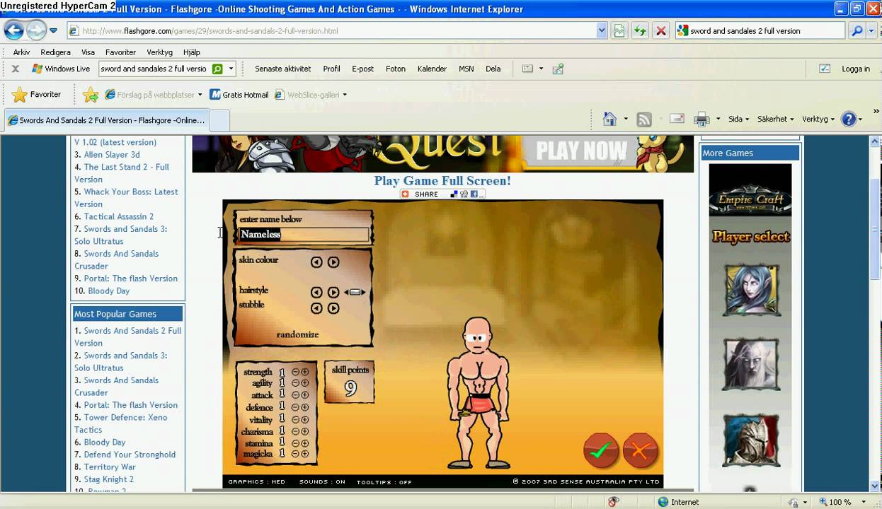 swords and sandals 2 gladiator full version hacked