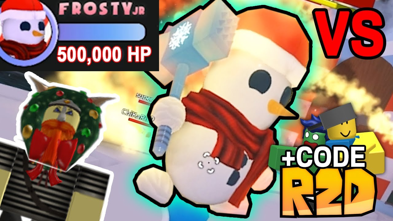 R2da Christmas Codes 2020 BRUH GAMING vs FROSTY JR + CODE   R2DA #66   YouTube