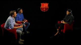 بالفيديو .. ماذا قال #نيمار بعد تجديد عقده مع #برشلونة ؟