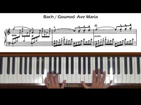 Bach/Gounod Ave Maria at Tempo (with score)