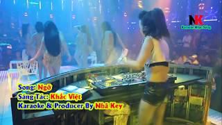 Ngỡ Remix Karaoke Nhạc Sống Tone Nam - Nhã Key