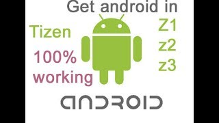 How to enable unknown source in tizen z2,z3 and install android apps