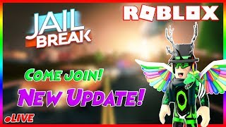 🔴 (Road to 6K subs) Roblox Jailbreak New Train Update Tommorow! & Mad city, Come join! 🔴