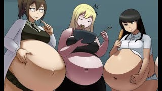 Stuffing Sena (version II) by Metallforever (weight gain comics) chubby anime weight gain
