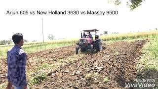 Arjun 605 vs New Holland 3630 vs Massey 9500