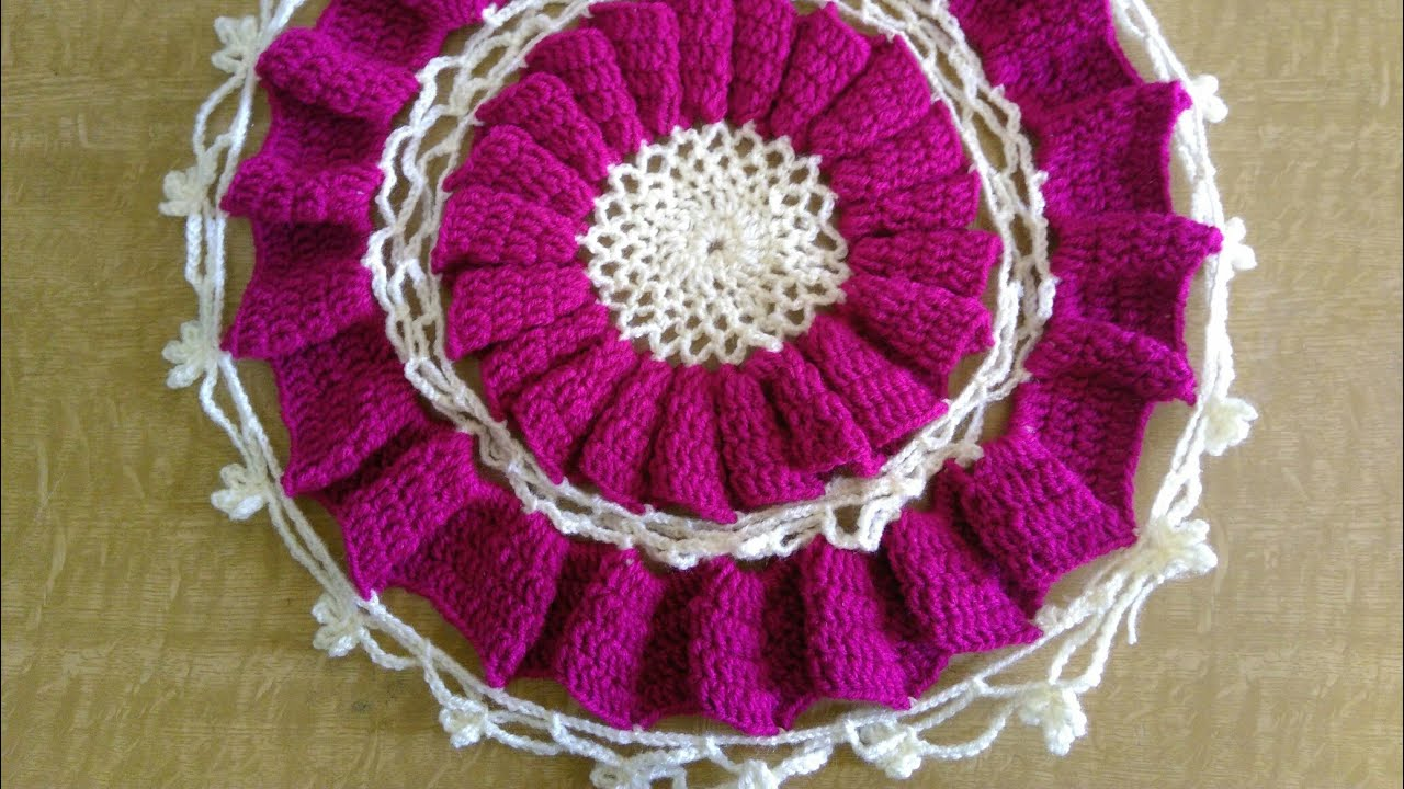 Crochet Beautiful Table Mat In Marathi
