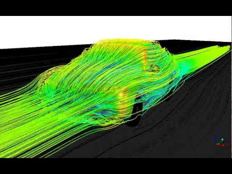 CFD of the flow around a car