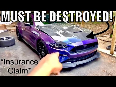 WHY I'M DESTROYING my BRAND NEW 2018 MUSTANG GT Carbon Fiber Hood! *not easy*
