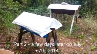 Barrel Top Bar Hive Inspection -  July 2014