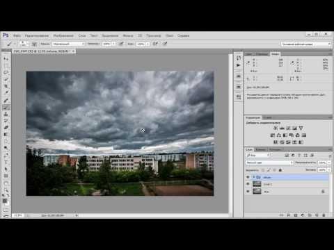 Обработка облаков в Camera RAW и Фотошопе