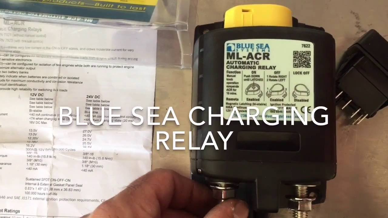 Sprinter Van Blue Sea Charging Relay Install  YouTube