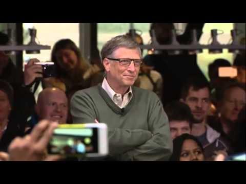 Bill Gates welcomes Satya Nadella Microsoft CEO
