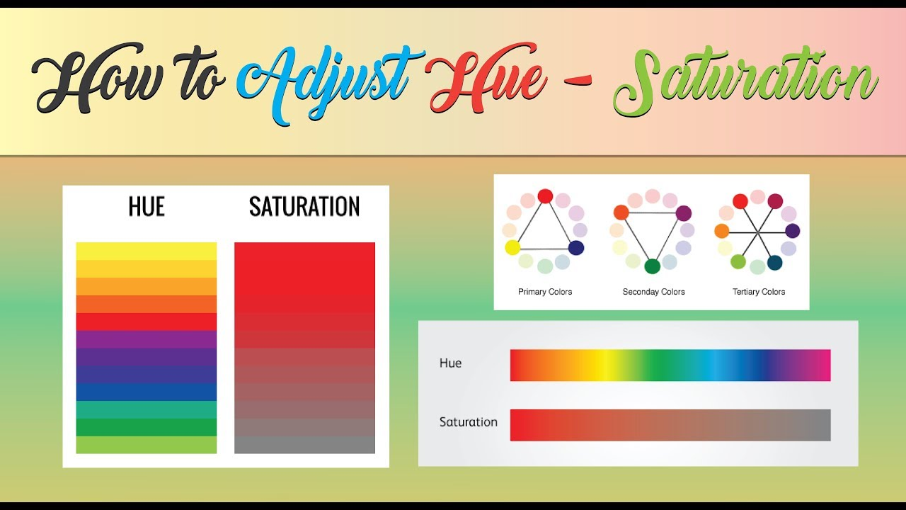 How To Adjust Specific Color With Hue and Saturation   Photoshop Tutorial