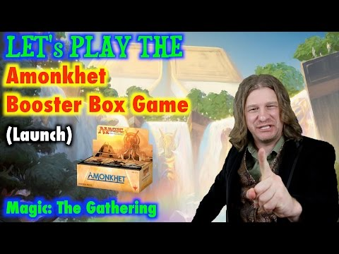 Let's play the Amonkhet Booster Box Game for Magic: The Gathering! (launch)