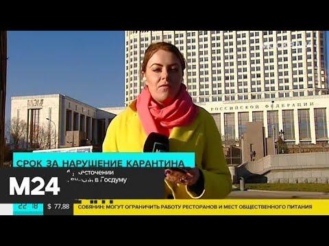 В ГД внесли законопроект о лишении свободы за нарушение карантина - Москва 24