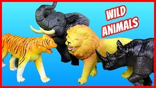 Toy Wild Animals 3D Puzzles Zoo Collection Lion Rhino Elephant Tiger Fun Facts For Kids