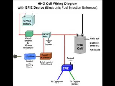 wiring diagrams for hho cells youtube rh youtube com Fuel Pump Relay Wiring Diagram 4 Pin Relay Wiring Diagram