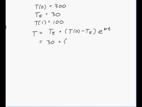 Application of newton's law of cooling precalculus tips youtube.