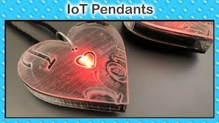 Most Innovative project of 2019, Connected Love Pendants | IoT Projects | ESP8266 Projects