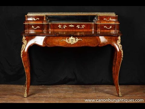Antique Victorian Walnut Desk  Antique Victorian Walnut Desk Writing Table Bureau