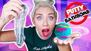 DO NOT MIX CLEAR PUTTY SLIME AND BATH BOMBS TOGETHER! PUTTY SLIME VS BATH BOMBS! | NICOLE SKYES