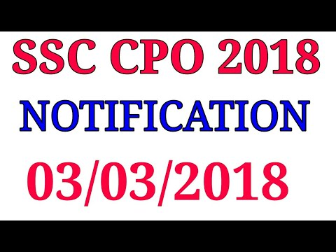 ssc cpo notification 2018