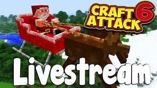 Mein Haus wird FERTIG 🎅🏻🎄! CraftAttack 6 Livestream vom 25.12.18
