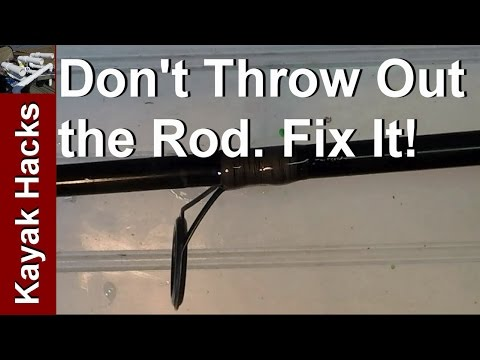 How To Replace A Fishing Line Guide Without Rod Building Equipment