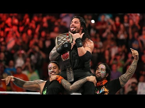 Thumbnail: Roman Reigns celebrates winning the WWE World Heavyweight Title with his family: Dec. 14, 2015
