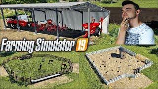 """Farming Simulator 19 """"Moja Amerykańska Gospodarka""""#1 ㋡ Oprowadzenie i zwierzęta ✔ MafiaSolecTeam"""