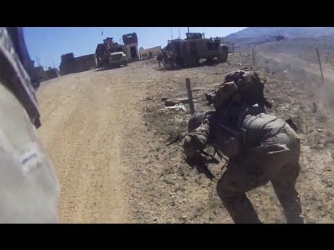 U.S. Soldiers Dodge Taliban Fire In The Open