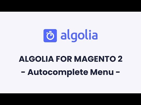 Algolia for Magento 2 | Autocomplete Menu Configuration