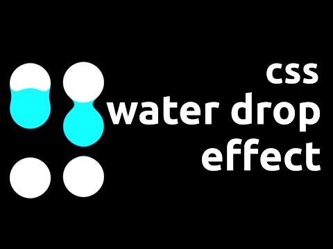 CSS water drop effect loader / falling water   HTML & CSS tutorial thumbnail