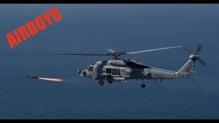 MH-60 Seahawk Firing Hellfire AGM-114 Missile