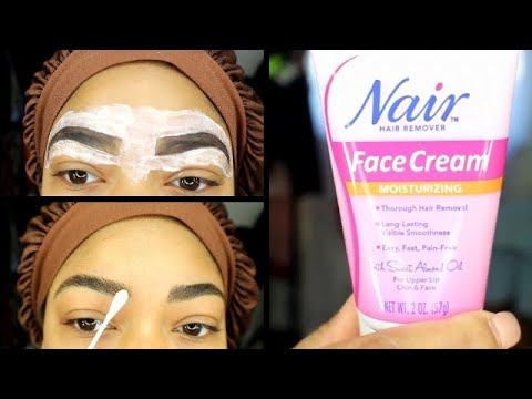 How I groom my brows using Nair At Home