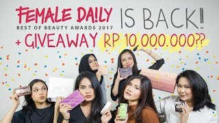 Female Daily Best of Beauty Awards 2017 + GIVEAWAY ALERT