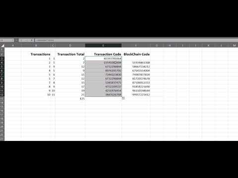 Blockchain in 2 Minutes with Excel
