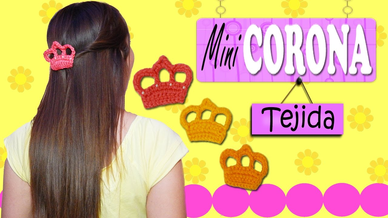 Mini Corona tejida a crochet | paso a paso - YouTube