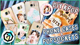 DIY KPOP Phone Cases + POPSOCKETS! (BTS, EXO, etc.)   KPOPAMOO
