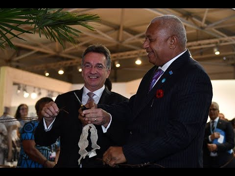 Fijian Prime Minister & COP23 President officially launched the Fiji Pavilion.