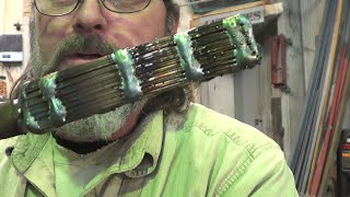 Blacksmithing - Forge Welding Band Saw Blades Into A Billet