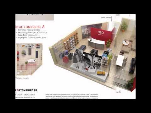 Edificio construcciones 12 planos 3d de dptos y locales for Planos de locales