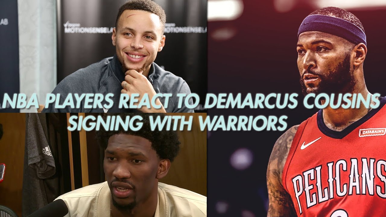 NBA Players React To DeMarcus Cousins Signing With WARRIORS Feat. Curry 4be17601b