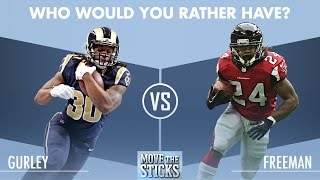 Who Would You Rather Have: Todd Gurley or Devonta Freeman? | Move the Sticks | NFL