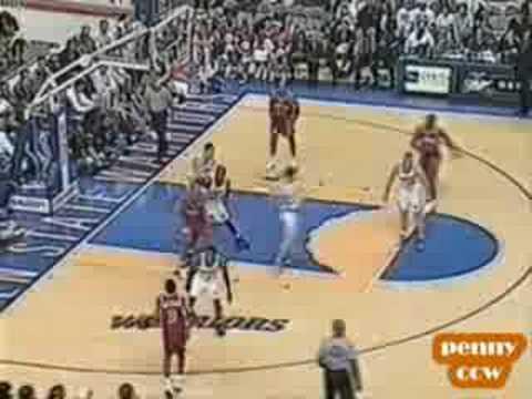 Allen Iverson 26pts vs L.Sprewell 39pts Warriors 96/97 NBA