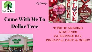 Come with me to Dollar Tree 1 3 18 Tons of NEW Items Valentines Day ️Decor Stationery More