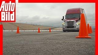 Daimler Trucks (CES 2019) Notbremsfunktion im Test