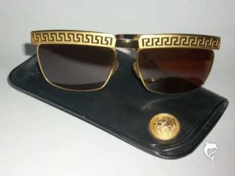 799920e3f4815 GIANNI VERSACE RAREST GREEK KEY S82 MENS SUNGLASSES-1992 - YouTube