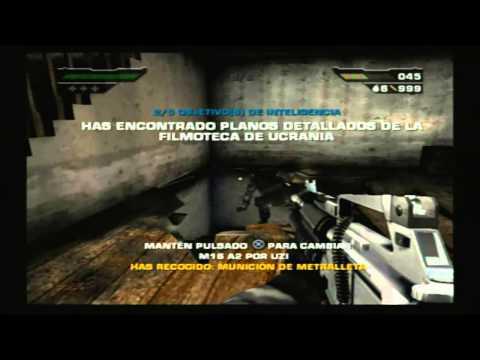 """Black PS2 #3 MODO BLACK OPS   Misión """"Ciudad de Naszran""""   TODOS LOS OBJETIVOS"""