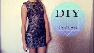 DIY: Dress (Сшить платье самой) Без выкройки(Всем привет:) В этом видео я расскажу как сшить платье за пол часа. При этом не имея оверлок и выкройки. ..., 2015-09-14T04:27:57.000Z)
